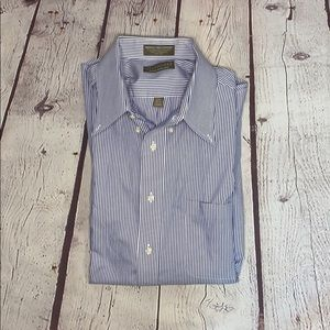 Clay Brooke | Blue striped dress shirt | XL
